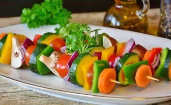Spyd med lækre grøntsager